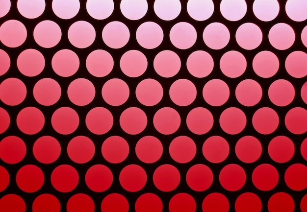 Geometric pattern of the elevator ceiling in red and black color