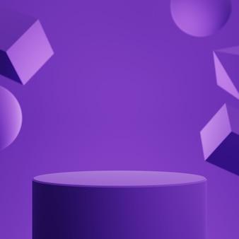 Геометрический подиум с фоном геометрической формы для отображения продукта.