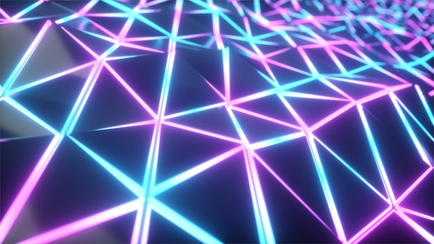 Geometric poly light triangles motion background