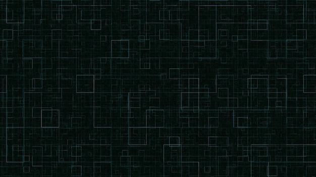 黒の背景に幾何学的な繰り返しの背景緑の正方形