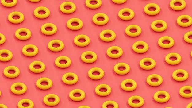 기하학적 반복 패턴 도넛 배경