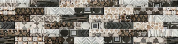 Геометрический узор бесшовные для декора интерьера. плитка с мраморным рисунком. фоновая текстура
