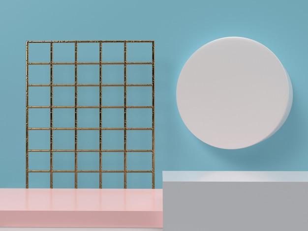 Geometric shape minimal design elements
