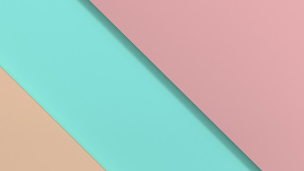 Geometric shape minimal pink blue background 3d rendering