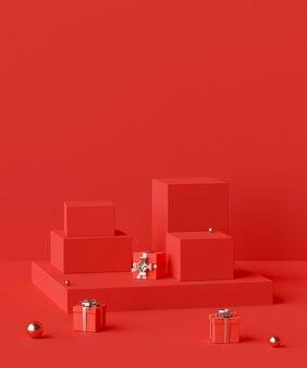 제품 광고를위한 기하학적 모양 연단