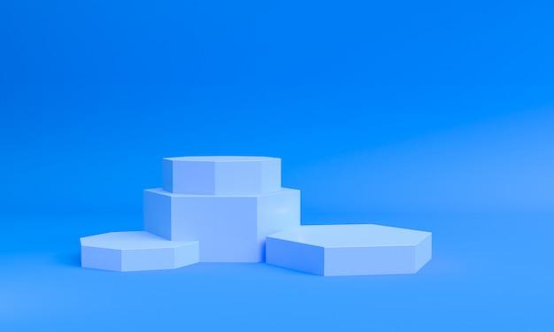 Geometric shape scene minimal style,  3d rendering.