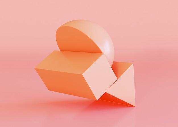 オレンジ色の色調の幾何学的形状の背景