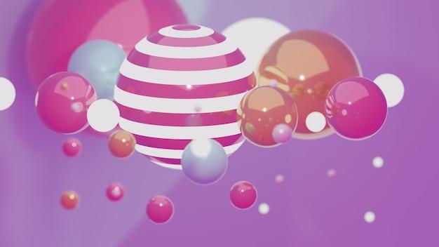 기하학적 인 도형 배경 분홍색과 밝은 보라색 톤