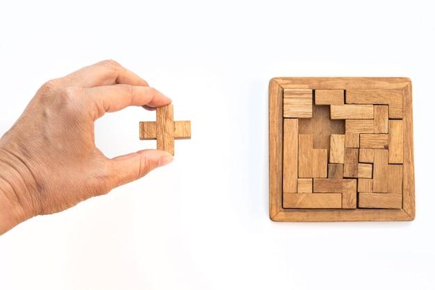 トップビューで幾何学的図形、創造的で論理的な思考の概念。