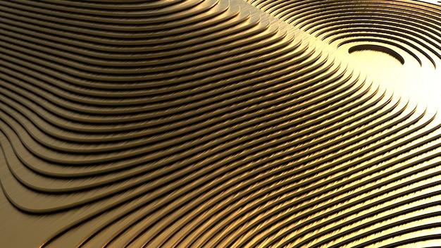 복잡한 모양의 황금 재료의 기하학적 모양