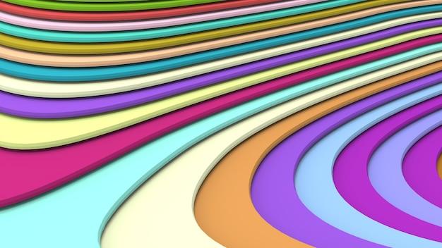 체적 풍경을 형성하는 다양한 색상의 기하학적 모양