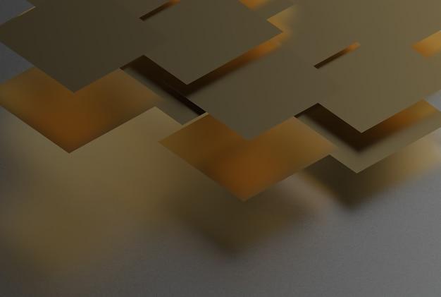 로컬 배경에 금색의 기하학적 모양