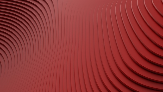 체적 풍경을 형성하는 빨간색의 기하학적 모양