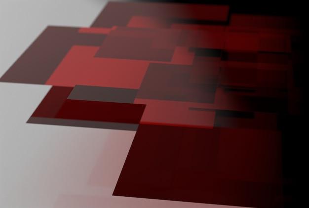 균일한 배경에 빨간색 유리의 기하학적 모양