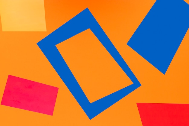 Geometric shapes on orange background