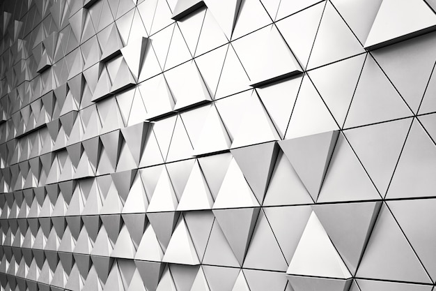Geometric silver background with rhombus and nodes.