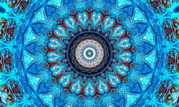 Геометрический тайский узор, смешанное искусство, полинезийское искусство, искусство мандалы. в форме шестиугольников, треугольников и шестиконечных звезд. выкройка каледоскопа для скрапбукинга, упаковки подарков, книг, буклетов, альбомов.
