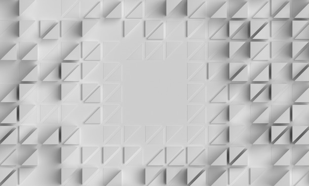 Sfondo bianco geometrico con forme poligonali