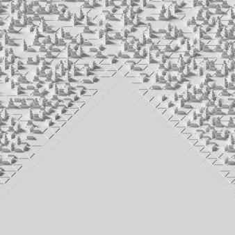多角形の幾何学的な白い背景