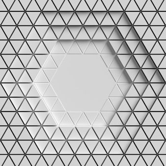 Geometric white background with triangle shapes