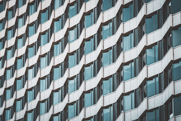 Geometrical facade of an urban building
