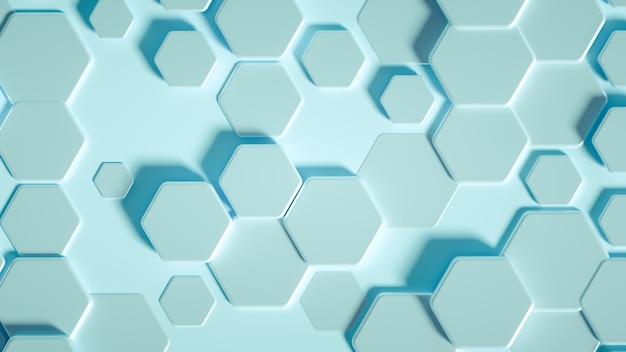 Geometry hexagon background. 3d illustration, 3d rendering.