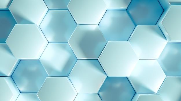 Фон шестиугольника геометрии. 3d иллюстрации, 3d-рендеринг.