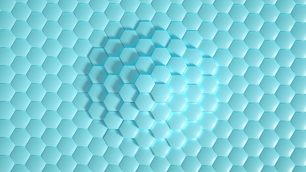 Geometry hexagon background 3d illustration