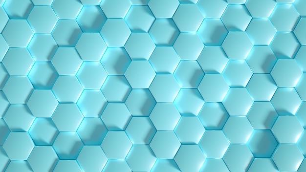 ジオメトリ六角形の背景3dイラスト