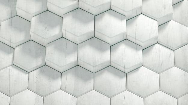 기하학 육각 배경 3d 렌더링