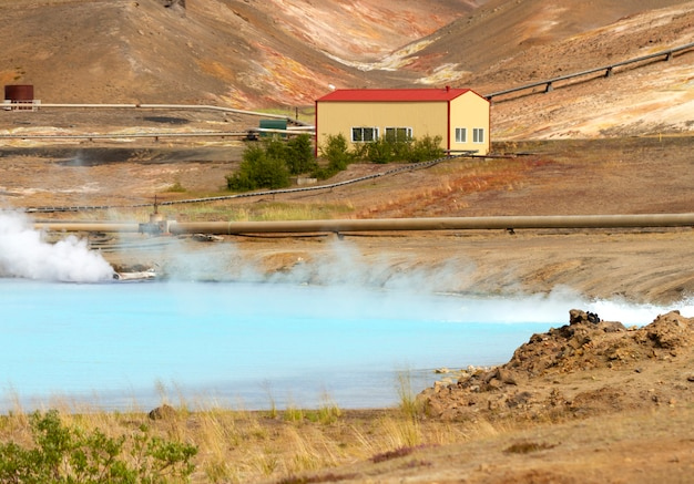 Geothermal station in iceland