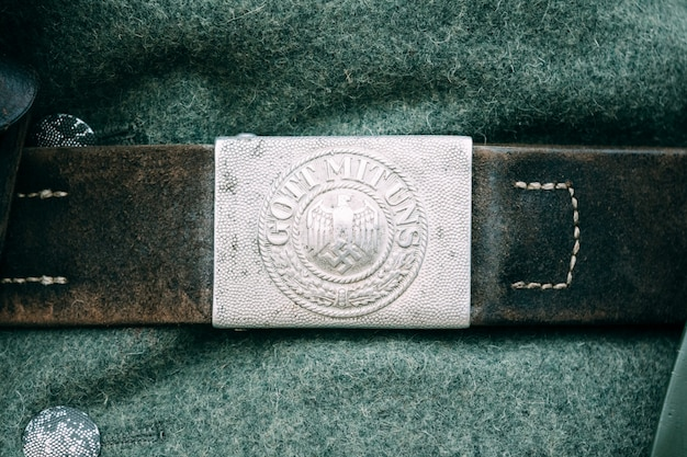 German belt clasp during the second world war