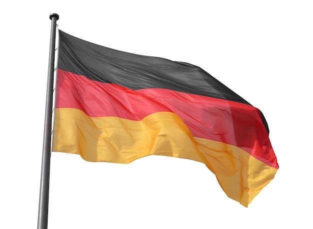 Немецкий флаг изолирован