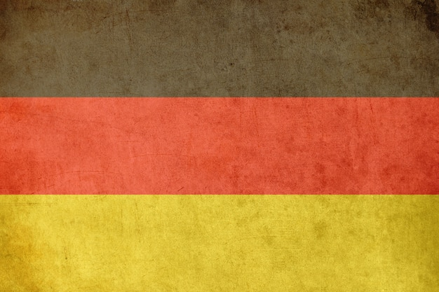 German flag, old postcard textured style