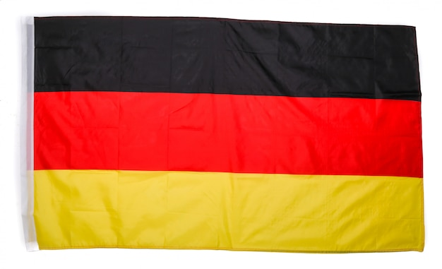German flag on white