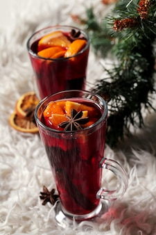 German glühwein, also known as mulled wine or spiced wine