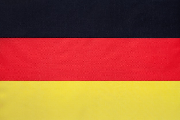 German national fabric flag