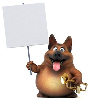 German shepherd dog illustration