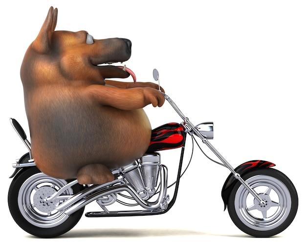ジャーマンシェパード犬のイラスト