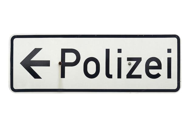 화이트 이상 격리 독일어 기호입니다. 폴리제이(경찰)