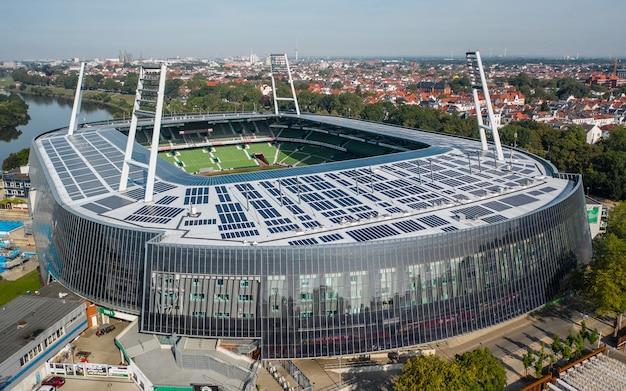 독일, 브레멘-베저 스타디움의 공중보기