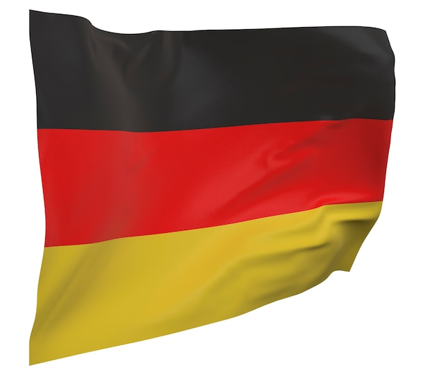 Germany flag isolated. waving banner. national flag of germany