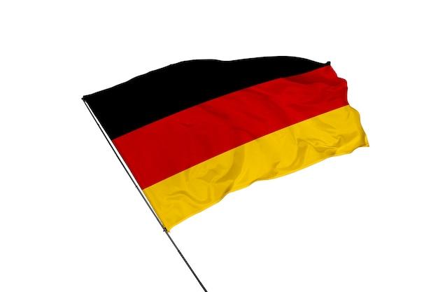 Флаг германии на белом фоне