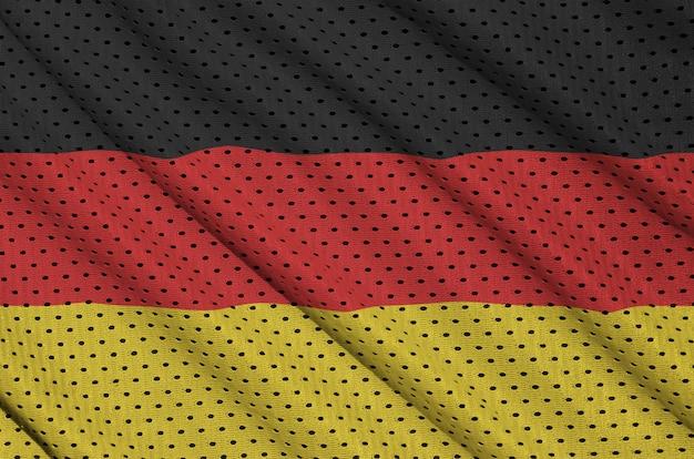 Germany flag printed on a polyester nylon sportswear mesh fabric