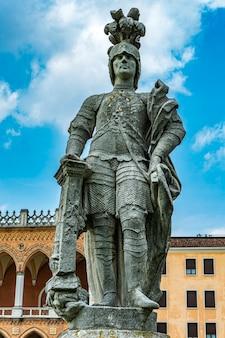 Gerolamo sarvognan statue at prato della valle in padua, italy
