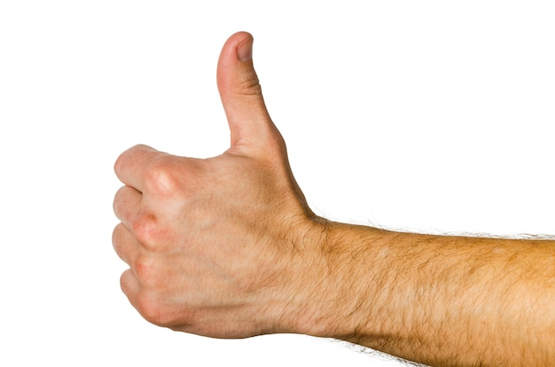 Gesture - thumb up, everything will be fine, ok.