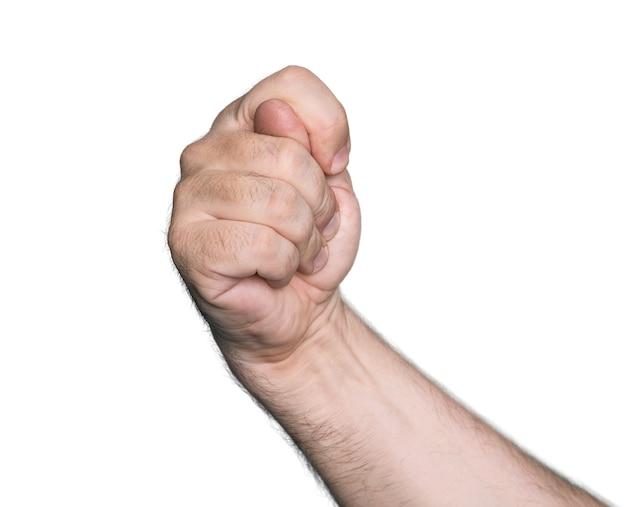Жест рукой, изолированные на белом фоне