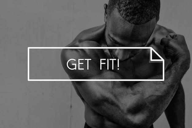 Создайте свою собственную силу тела фитнес-упражнения get fit