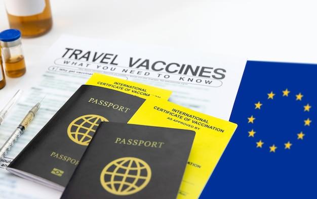 여행 전 예방 접종 국제 증명서를 받으십시오.