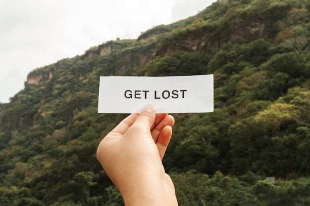 Get lost message on paper sheet